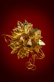 Christmas decoration golden flower Stock Photos