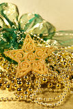 Christmas decoration golden star Stock Images