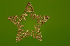 Christmas decoration, golden star Stock Images