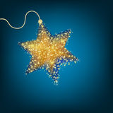 Christmas decoration, golden star. EPS 8 Stock Photo