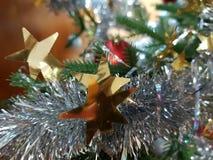 Golden stars. Christmas decoration - golden stars royalty free stock images