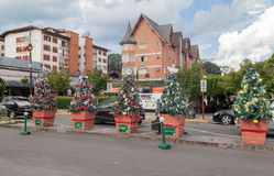 Christmas Decoration in Gramado Stock Photography
