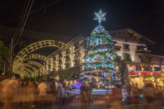 christmas decoration gramado night Στοκ Εικόνες
