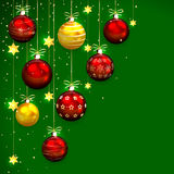 Christmas decoration on green background Stock Image