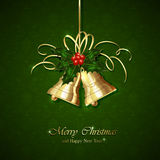 Christmas decoration on green background Stock Images