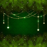 Christmas decoration on green background Stock Image