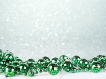 Christmas decoration. Green. Royalty Free Stock Images
