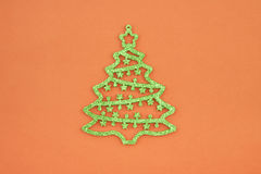 Christmas decoration green crystals fir Royalty Free Stock Image