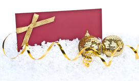 Christmas decoration and greeting card Stock Images