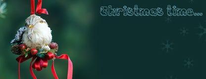 Christmas decoration of handmade bird Stock Photography