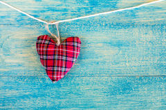 Christmas decoration handmade heart-shaped Stock Photo