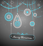 Christmas decoration with hanging plate Royalty Free Stock Photo