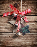 Christmas decoration hanging on a rustic wall Stock Photo