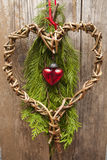 Christmas decoration with heart Royalty Free Stock Photography