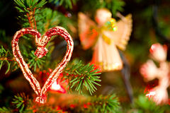 Christmas decoration - heart Stock Photography