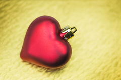 Christmas decoration with heart shape Royalty Free Stock Image