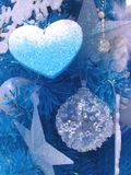 Christmas  decoration. Heart, Star and ball for decoration in Christmas time Royalty Free Stock Photography