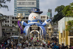 Christmas decoration of the 1881 Heritage mall. Hong Kong, JAN 1: Christmas decoration of the 1881 Heritage mall on JAN 1, 2017 at Hong Kong Stock Photo