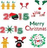 Christmas decoration Holidays set Royalty Free Stock Image