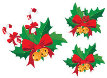 Christmas decoration with holly Stock Photography