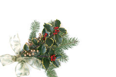 Christmas decoration with holly berries Stock Photo