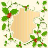 Christmas decoration with holly berry floral Stock Images