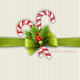 Christmas decoration with holly leaves Stock Photography