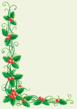 Christmas decoration with holly Royalty Free Stock Photos