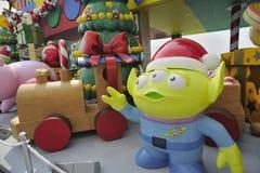 Christmas Decoration in Hong Kong Stock Photo