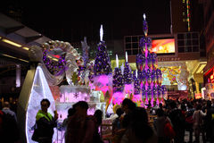 Christmas decoration in Hong Kong Royalty Free Stock Photo