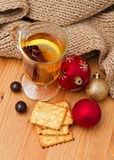 Christmas decoration and hot drink Stock Photo