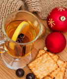 Christmas decoration and hot drink Stock Image