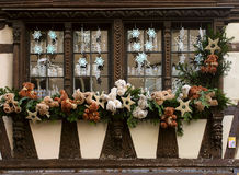 Christmas decoration on the house. In Strasbourg (France Royalty Free Stock Image