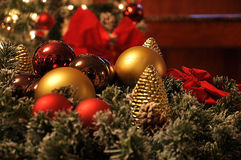 Christmas decoration. In house area Royalty Free Stock Images