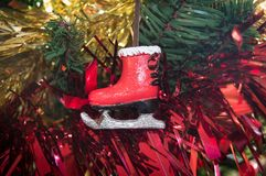 Christmas decoration of a Ice Skate Royalty Free Stock Photos