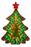 Christmas decoration - illuminated tree Royalty Free Stock Photo