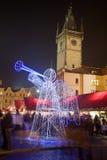 Christmas Decoration In Prague Stock Photos
