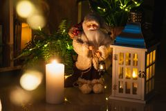 Christmas decoration in interior stock photos