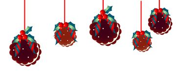 Christmas  decoration and  iscuits Royalty Free Stock Images