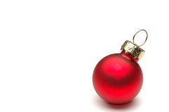 Christmas Decoration Isolated. Christmas ball with copy space Royalty Free Stock Photo
