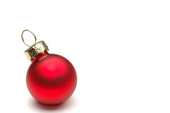 Christmas Decoration Isolated. Christmas ball with copy space Royalty Free Stock Image