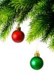 Christmas decoration isolated Royalty Free Stock Photos