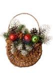Christmas decoration isolated. Royalty Free Stock Photos