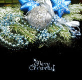 Christmas Decoration isolated on black Stock Images