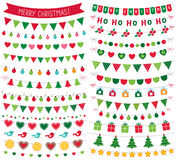 Christmas decoration, isolated design elements set Royalty Free Stock Photography