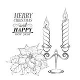 Christmas decoration. Christmas decoration isolated over white. Vector illustration Royalty Free Stock Image