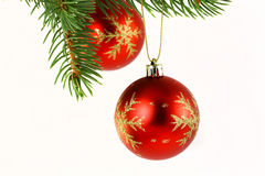 Christmas decoration isolated on white Royalty Free Stock Photos