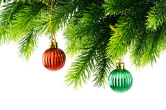Christmas decoration isolated Royalty Free Stock Images