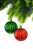Christmas decoration isolated Stock Images