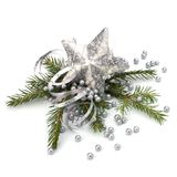 Christmas decoration isolated on white background royalty free stock photography